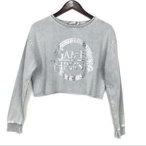 💎3/$20 Game of Thrones Cropped Sweatshirt Gray